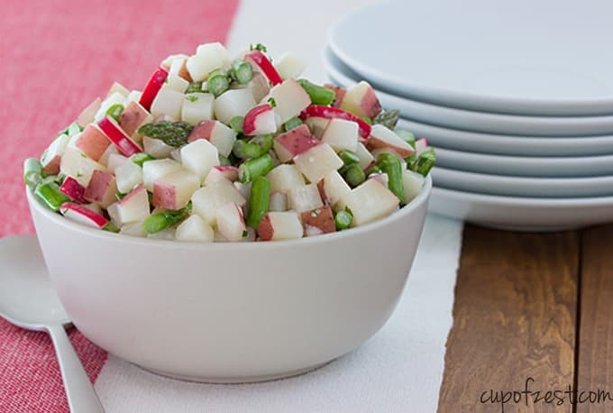 Asparagus Radish Potato Salad-Full Bowl