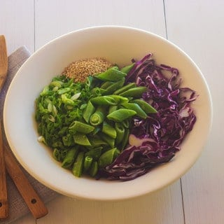 Spicy Cabbage and Snap Pea Salad