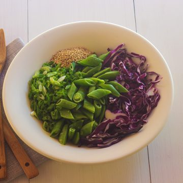Snap Pea Cabbage Salad - Ingredients