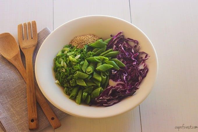 Snap Pea Cabbage Salad - Ingredients