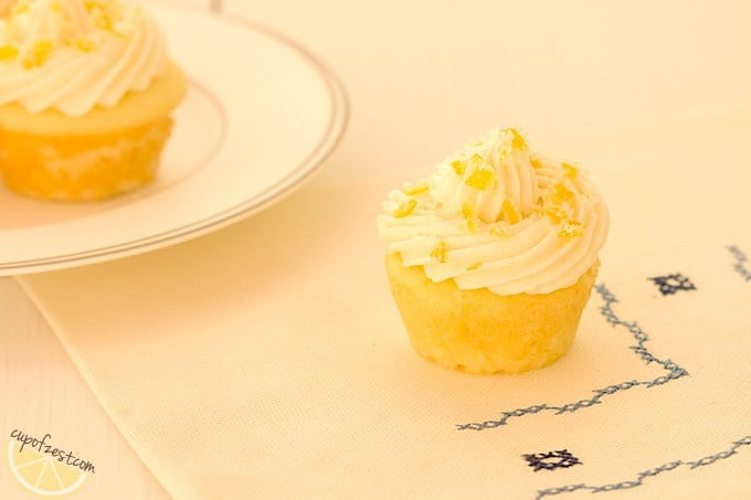 Mini Lemon Cupcake Frosted