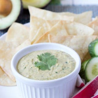 Avocado Cilantro Greek Yogurt Dip
