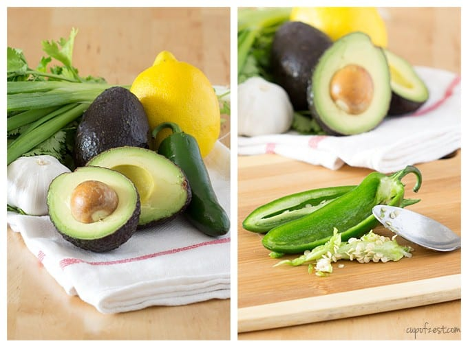 Avocado Cilantro Greek Yogurt Dip-Ingredients