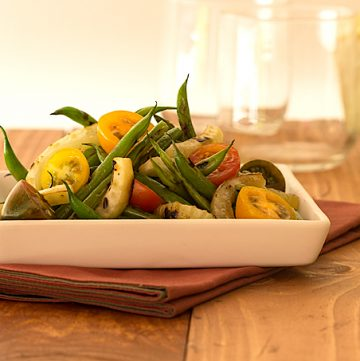 Charred Green Bean and Fennel Salad-Serving;