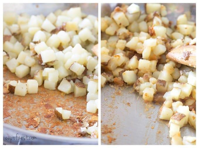 Potatoes Cooking in Pan