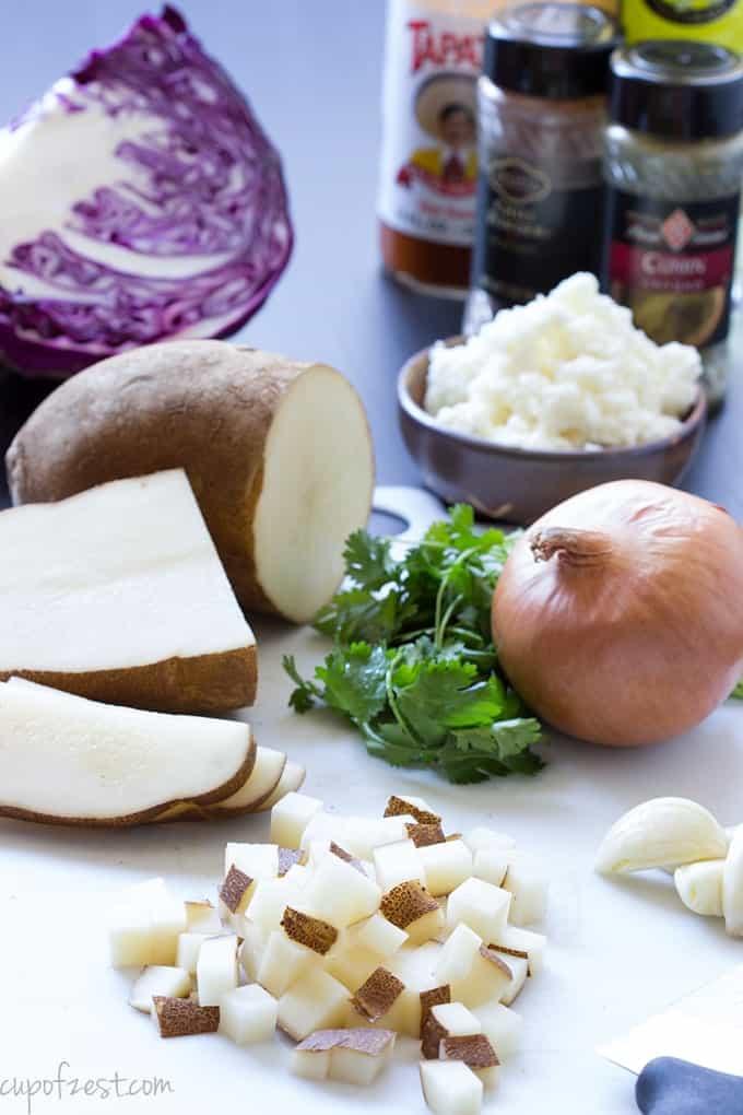 Potato Taco Ingredients