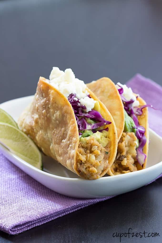 Potato Tacos Close Up