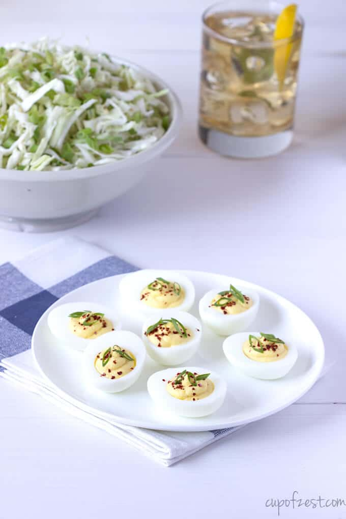 Tangy Deviled Eggs from Above