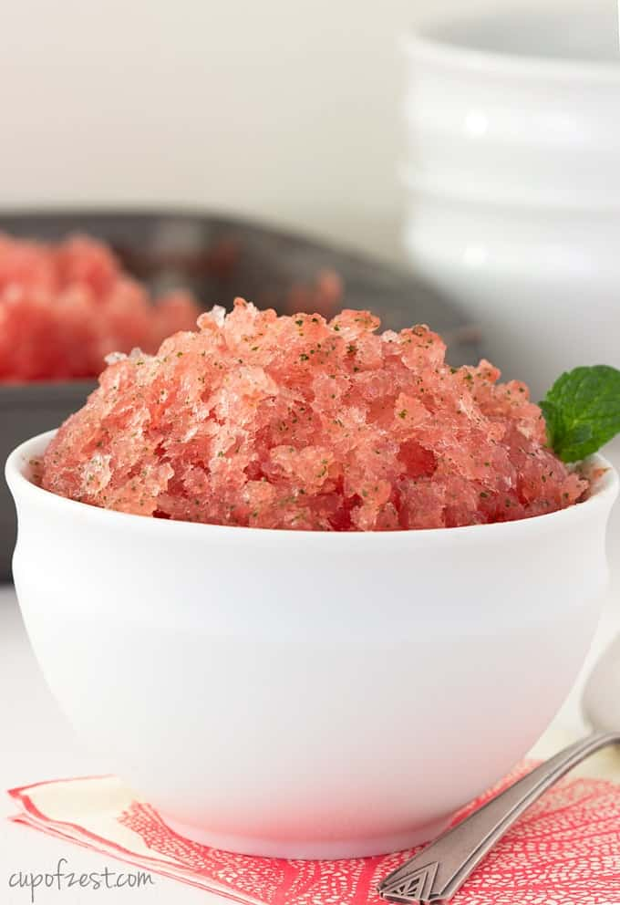 Watermelon Mojito Granita-Close Up