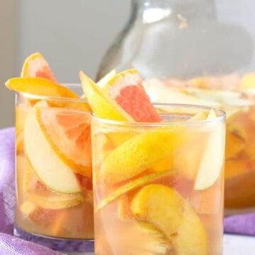 Peach Grapefruit Sangria with Pitcher