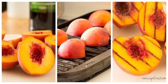Grilled Peaches with Mascarpone Cream | Cup of Zest