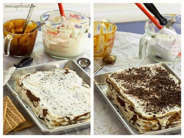 Caramel Coconut Icebox Cake - Assembly Part 2