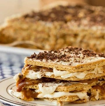 Caramel Coconut Icebox Cake Straight On