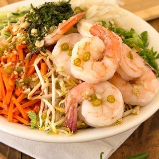 Shrimp Rice Noodle Bowl