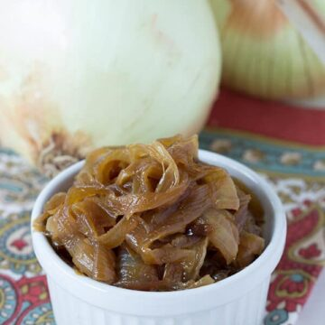 Apple Cider Vinegar Caramelized Onions from Above