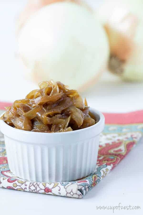 Apple Cider Vinegar Caramelized Onions