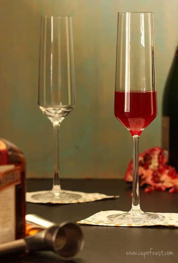 Orange Pomegranate Sparkling Cocktail