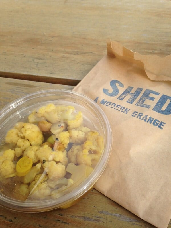 Curried Cauliflower at Shed
