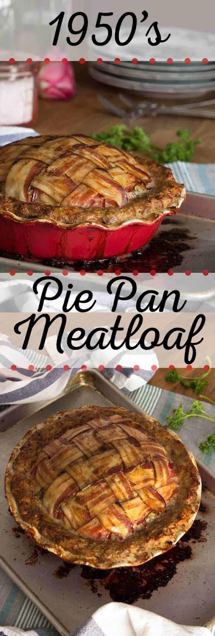 Pie Pan Meatloaf Long Pin
