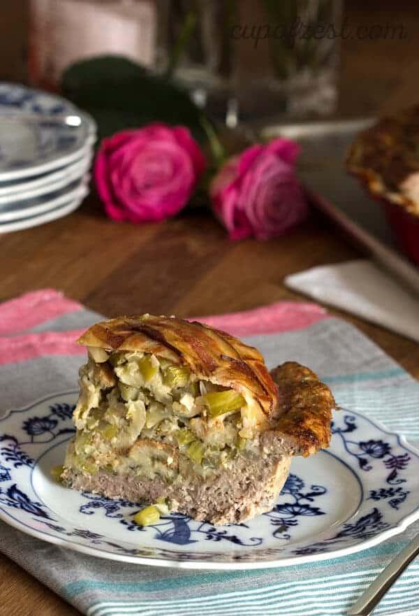 Pie Pan Meatloaf - Slice