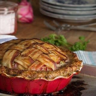 Pie Pan Meatloaf - Whole