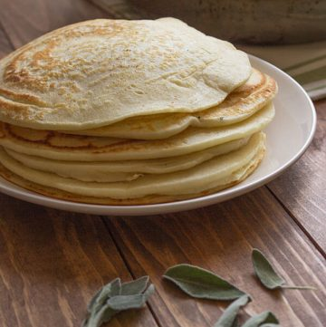 Chicken Filled Pancakes-Pancake Stack