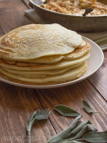Chicken Filled Pancakes-Pancake Stack