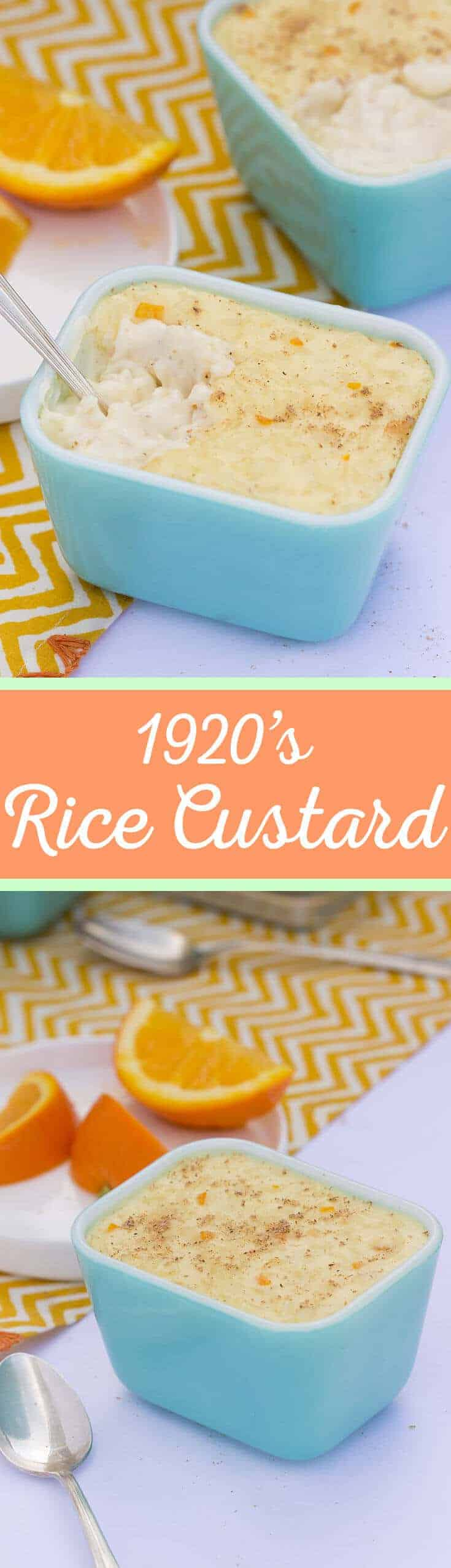 Rice Custard - An easy vintage recipe inspired by the 1920's. You'll want to make this sweet and creamy dessert all the time! #vintagerecipe #zestyrecipe