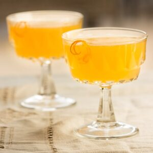 The Abbey Cocktail - A strong, slightly bitter, yet perfectly balanced vintage cocktail from The Savoy Cocktail Book is a fantastic drink to serve at your next vintage themed party! #zestyrecipe #vintagerecipe