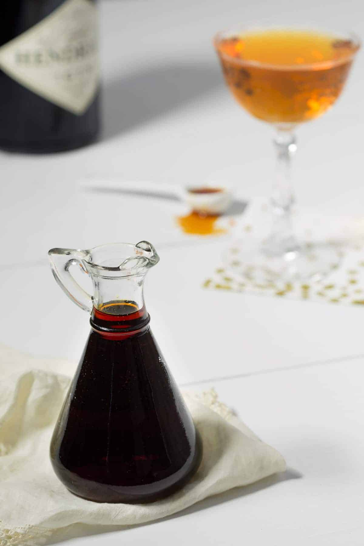 1952 Burnt Sugar Syrup - Deep, bitter, yet sweet, this Burnt Sugar Syrup has an interestingly complex flavor that is wonderful in cocktails, coffee, or cake. #vintagerecipe