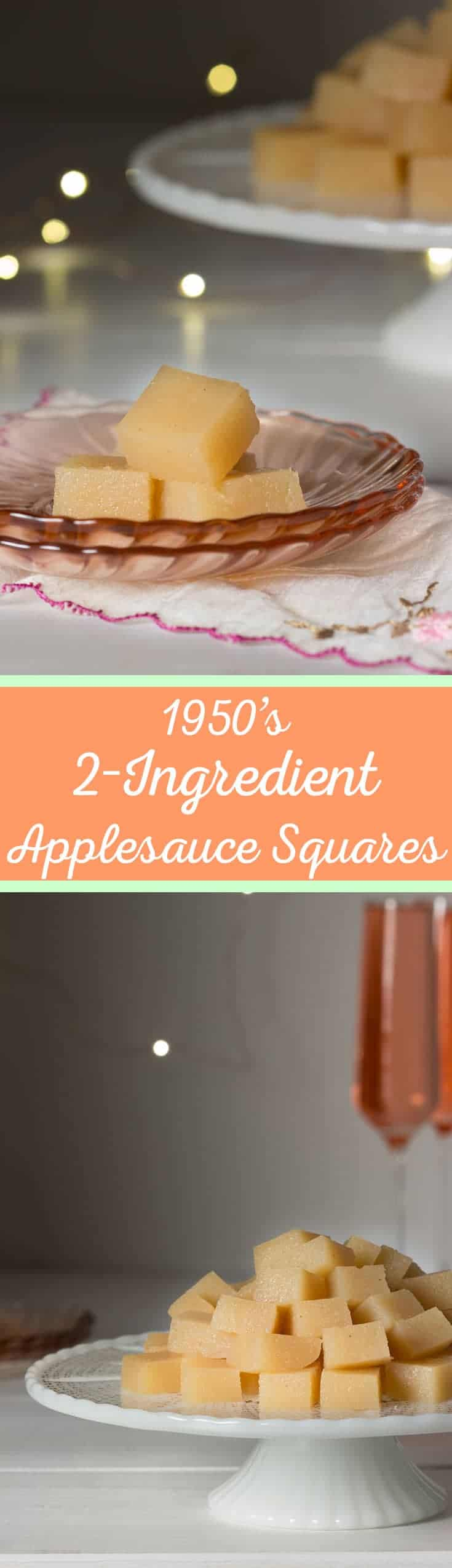 Two-Ingredient Applesauce Squares - These delightful bites are super easy to make and perfect for kids - cupofzest.com