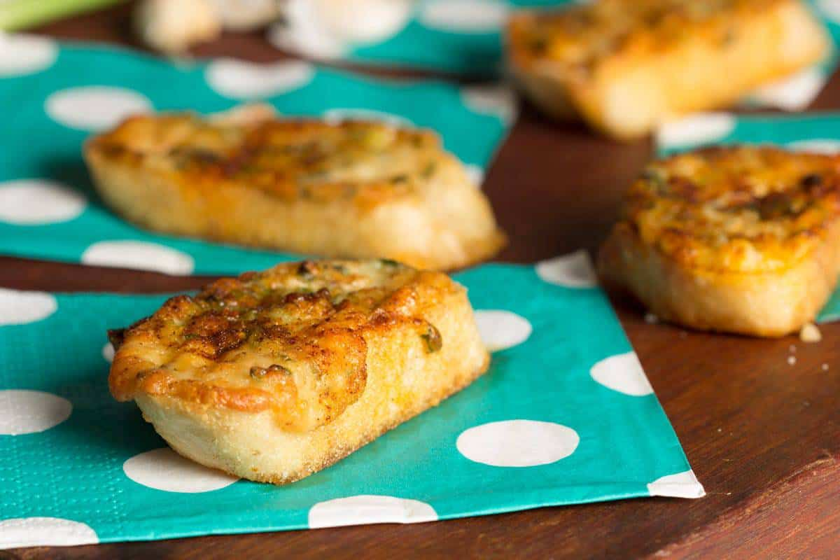 Parmesan Scallion Toasts - This vintage inspired recipe from the 1960's is a quick, easy, and tasty recipe for impromptu get togethers - cupofzest.com