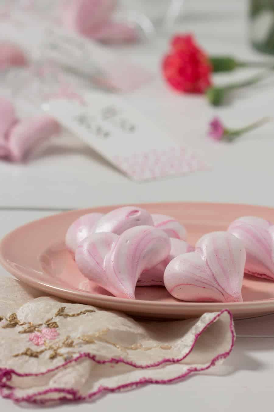 Easy Meringue Heart Cookies - Inspired by a 1967 recipe, these Meringue Heart Cookies are lovely Valentine's Day gifts for all of your loves!