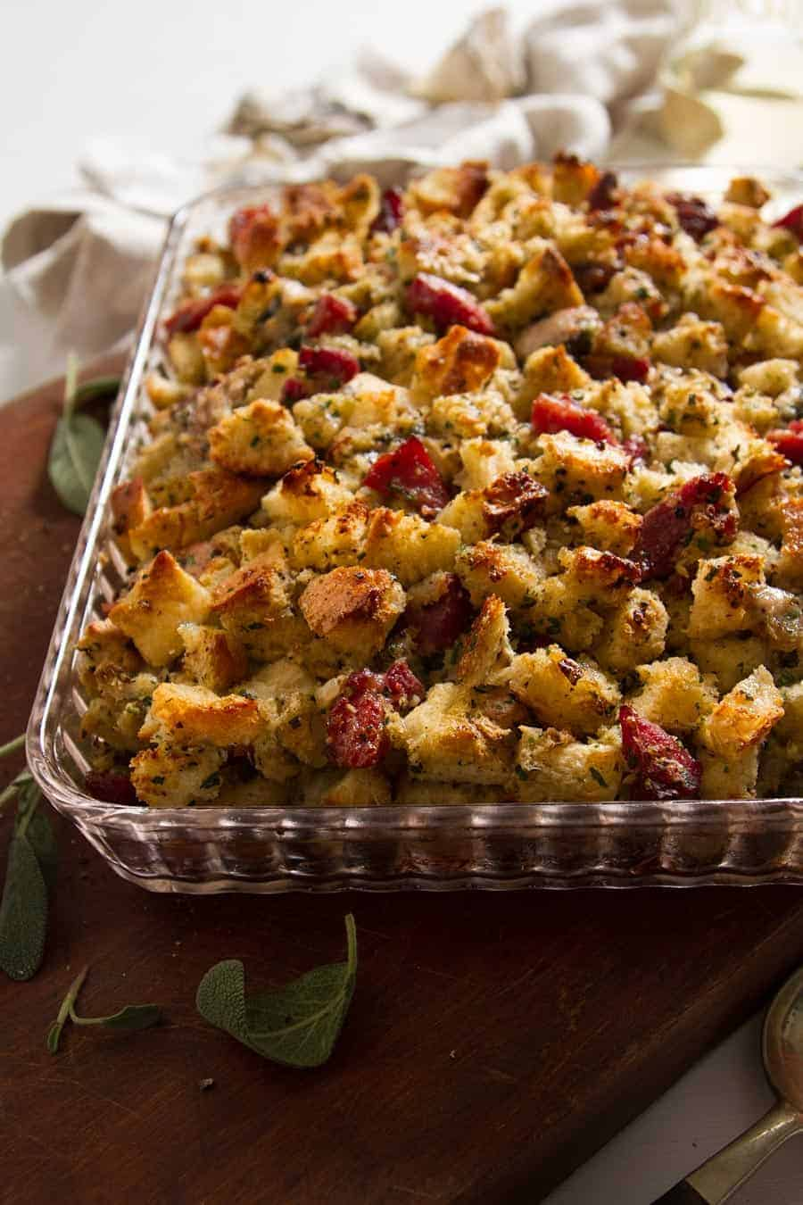 1920's Oyster Stuffing - This vintage inspired recipe is a perfect side dish for all of your holiday parties! - #cupofzest