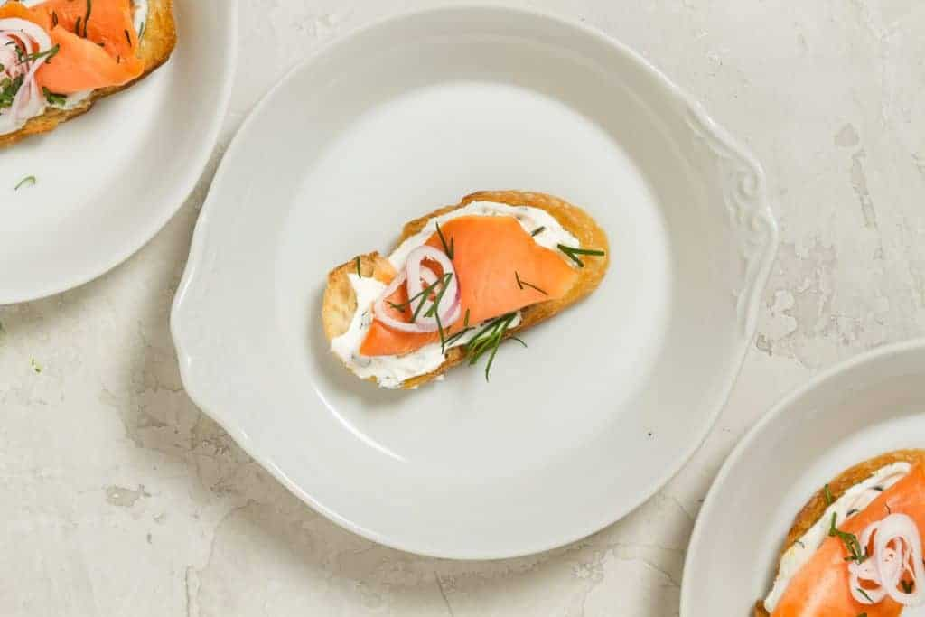 Smoked Salmon Appetizer Crostini With Cream Cheese Cup Of Zest